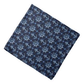 Blue Nautical Pattern Bandana