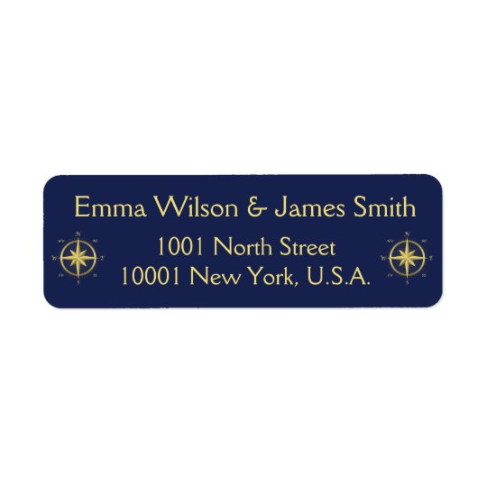 Blue Nautical Personalized Return Address Labels