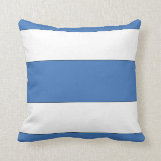 Blue Nautical Stripe Pillow