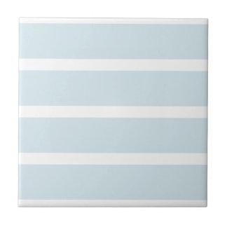 Blue nautical stripes ceramic tile