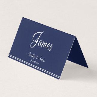 Blue Nautical Wedding Folded Table Seating Cards