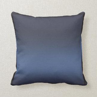 Blue Navy Sateen Satin Shine Modern Glamour Glam Throw Pillow