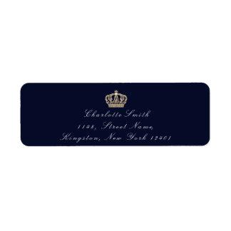 Blue Navy Sepia RSVP Crown Elegant Bridal Formal