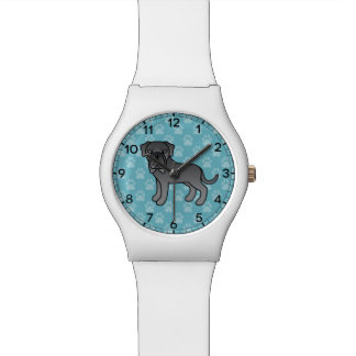 Blue Neapolitan Mastiff Dog Cartoon Watch