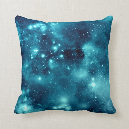 Blue Nebula Astronomy Space Galaxy Pillow