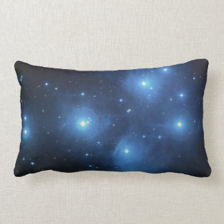 Blue Nebula Lumbar Pillow