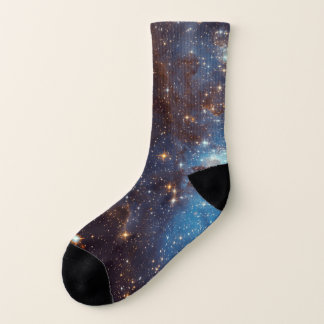 Blue Nebula Stars Space Geek Socks