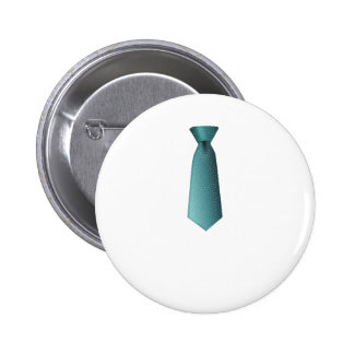 Blue Necktie 2 Inch Round Button