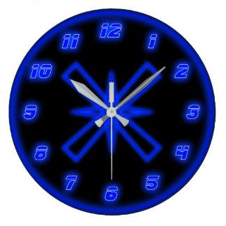 Blue Neon (Effect) Wallclock