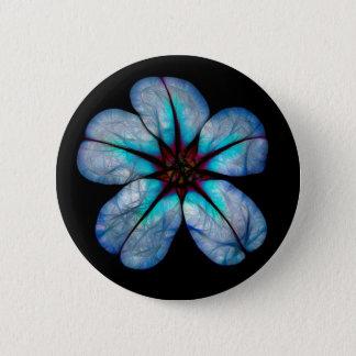 Blue Neon Wildflower 2 Inch Round Button
