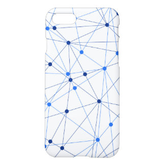 Blue network connection on white background iPhone 8/7 case