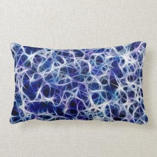 Blue Neuron Pattern Lumbar Pillow