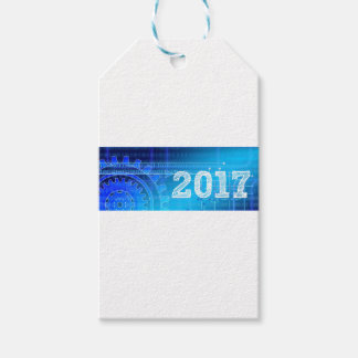 Blue New-Years-Day #2 Pack Of Gift Tags