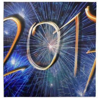 Blue New-Years-Day #3 Napkin