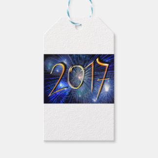 Blue New-Years-Day #3 Pack Of Gift Tags
