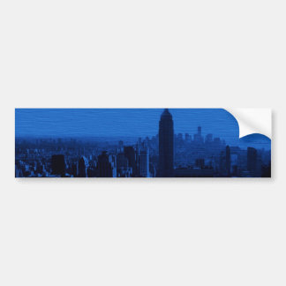 Blue New York City Night Bumper Sticker