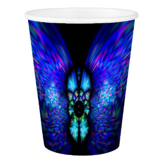 Blue Night Butterfly custom Paper Cup 9oz