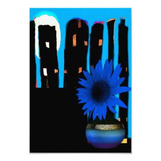 Blue Night Sky Accompanied with Blue Daisy Card