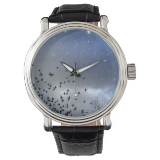 Blue Night Starry Sky Watch