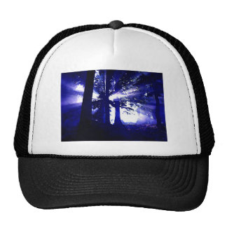 Blue Night Trees Trucker Hat