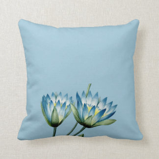 Blue Nile Water Lily Pillow