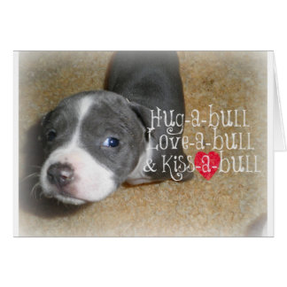 Blue Nose Hugs Card