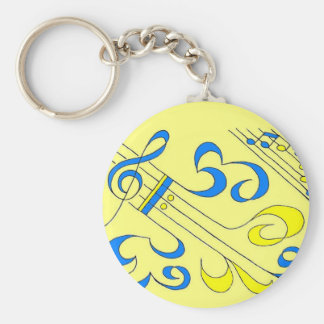 Blue Notes Keychain