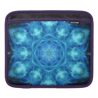 Blue Nova Mandala iPad Sleeves