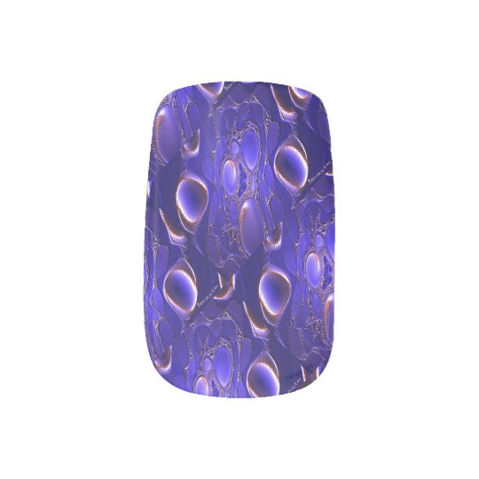 Blue Nugget Nail Wrap