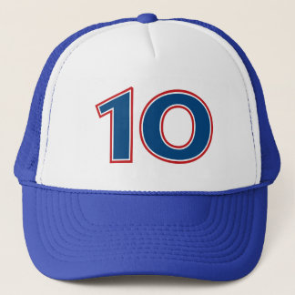 Blue Number 10 Trucker Hat