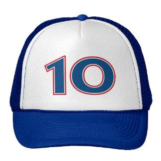 Blue Number 10 Trucker Hat
