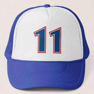 Blue Number 11 Trucker Hat