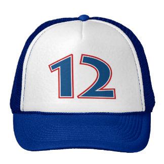 Blue Number 12 Trucker Hat