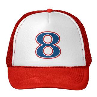 Blue Number 8 Trucker Hat