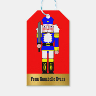 Blue Nutcracker Personalized Pack Of Gift Tags