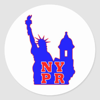 BLUE NYPR copy.png Classic Round Sticker