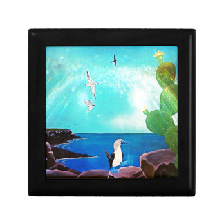 Blue Ocean Flying Birds Painting Gift Box