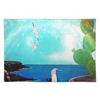 Blue Ocean Flying Birds Painting Placemat