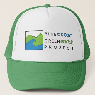 Blue Ocean Green Earth- Green Trucker Hat