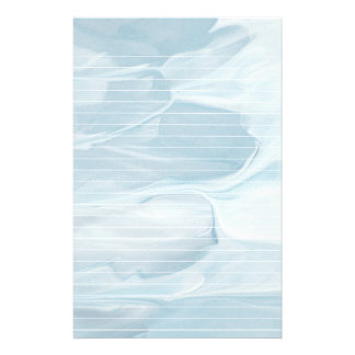 Blue Ocean Like With Lines Stationery
