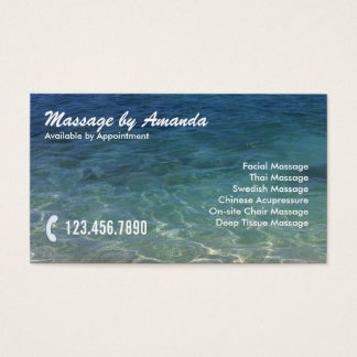 Blue Ocean Massage Therapy Business Card