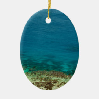 Blue ocean off Yasawas Island, Fiji Ceramic Oval Ornament