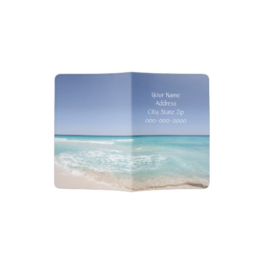 Blue Ocean Personalized Passport Cover