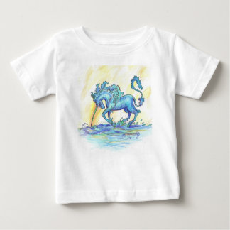 Blue Ocean Sea Unicorn Fish Horse Hippocampus Baby T-Shirt