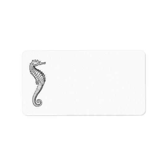 Blue Ocean Seahorse   Personalized Blank Address Label