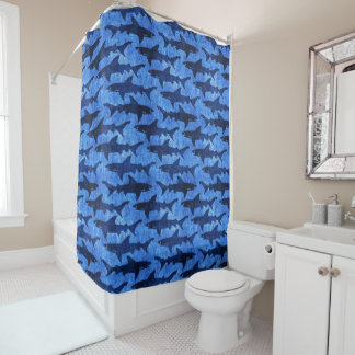 Blue Ocean Shark Pattern