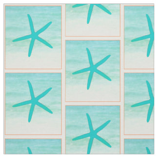 Blue Ocean Starfish Fabric