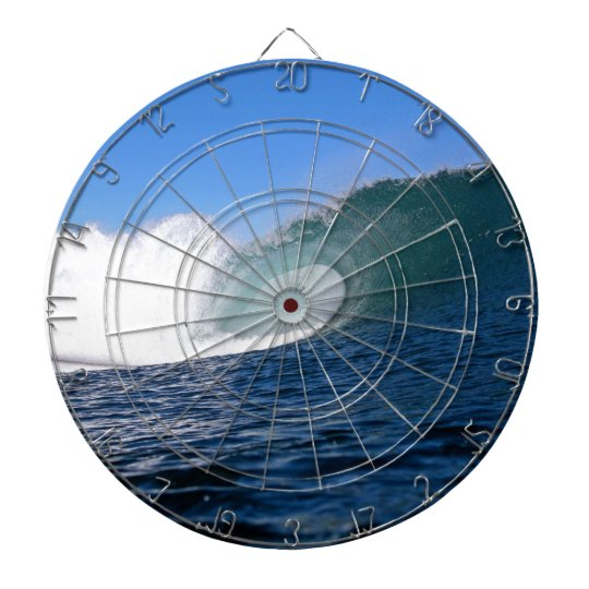 Blue ocean surfing wave Chile Dart Board