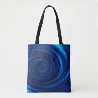Blue Ocean Swirl Tote Bag
