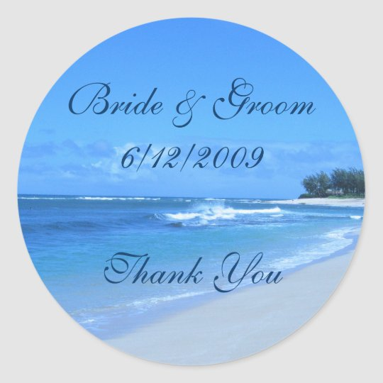 Blue Ocean Thank You Stickers